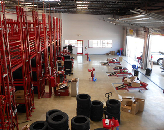 Garage at Discount Tire in Garland, Texas