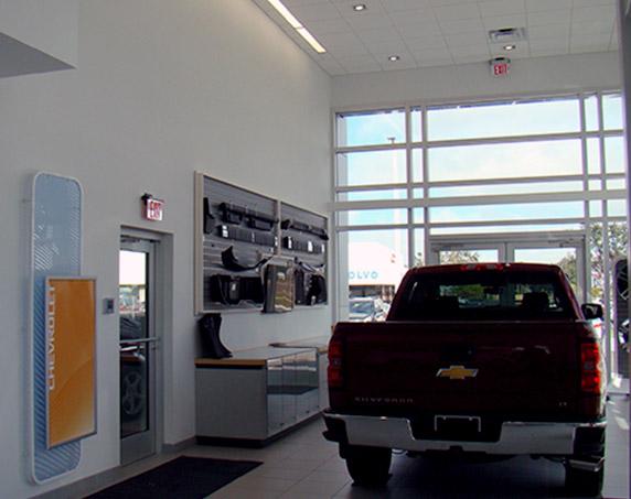 Showroom at Ferman Chevrolet in Tarpon Springs