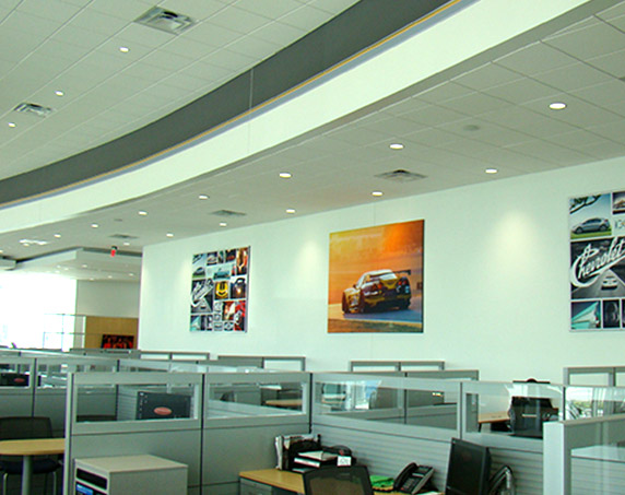 Office area at Ferman Chevrolet