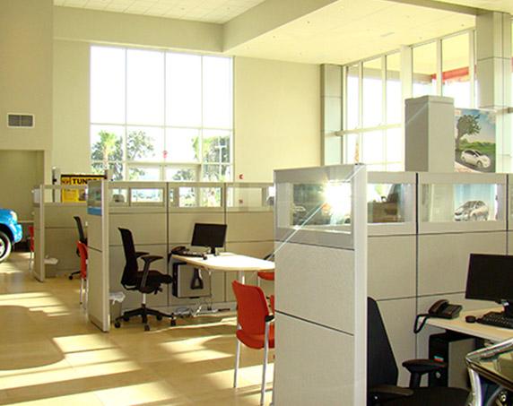 Interior office area in showroom at Sun Toyota