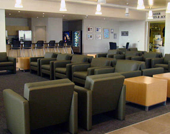 Customer seating area at Sun Toyota