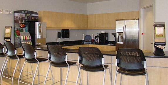 Kitchen area at Sun Toyota