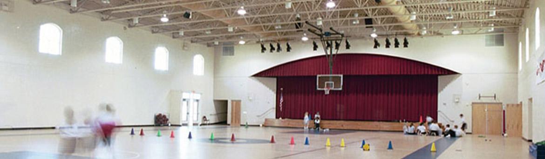 Indoor gym at Espiritu Santo Catholic School