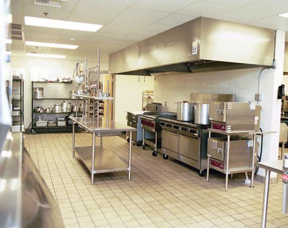 Cafeteria kitchen at Espiritu Santo Catholic School