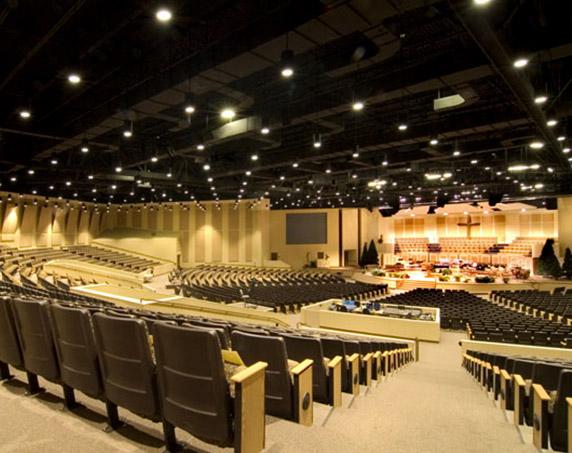 Chapel auditorium at First Baptist Church of Indian Rocks Beach