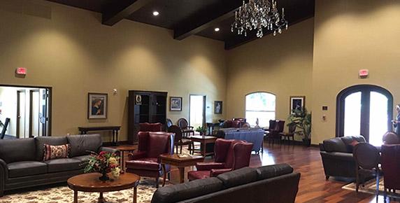 Interior common area at House of Prayer Retreat