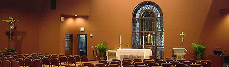 Interior chapel at House of Prayer