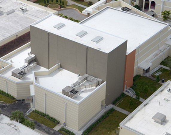 Aerial view of Kings Academy building