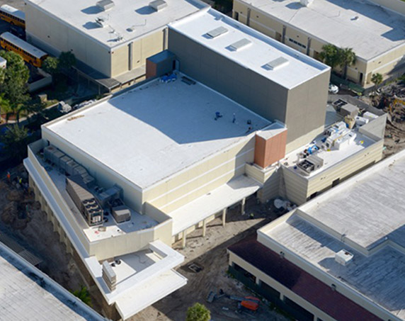 Aerial view of Kings Academy Performing Arts Center