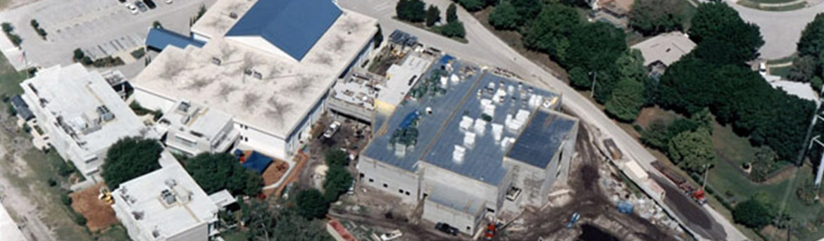 Aerial view of Palm Harbor Methodist in construction