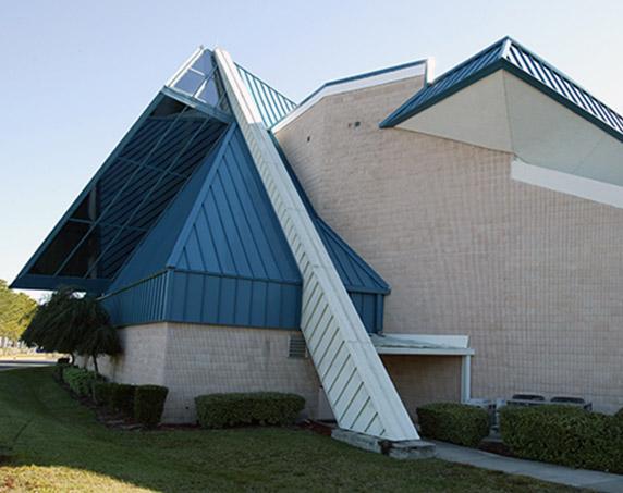 Exterior details of St. Frances Calibrini Catholic Church