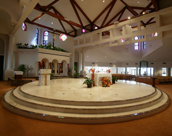 Interior at St Raphael Church