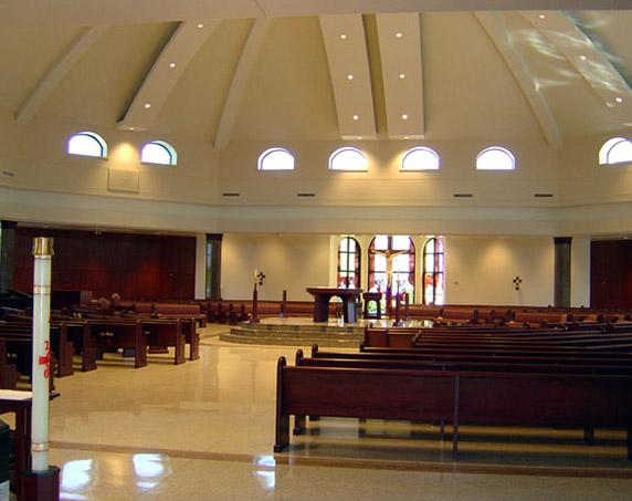 Inside chapel at St Timothy Catholic Church