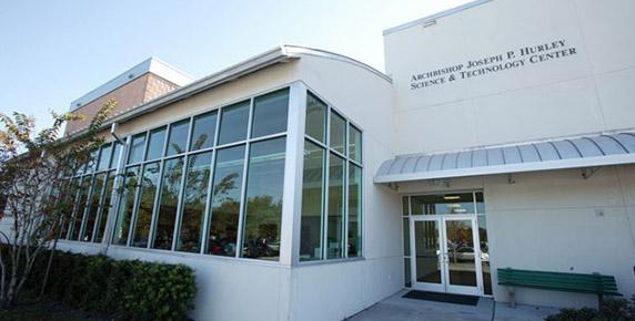Exterior details at Tampa Catholic High School