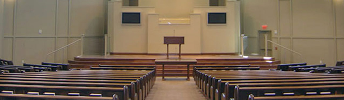 Interior chapel of Temple Terrace Church of Christ
