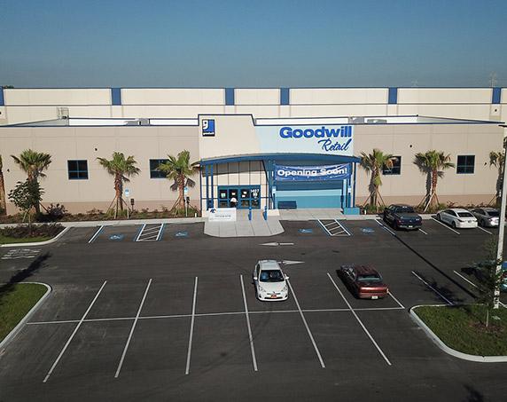 Goodwill Hub grand opening exterior shot