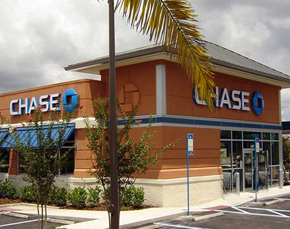 Exterior view of Chase bank building