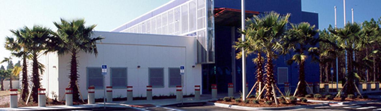 Exterior building details of Emergency Services Complex