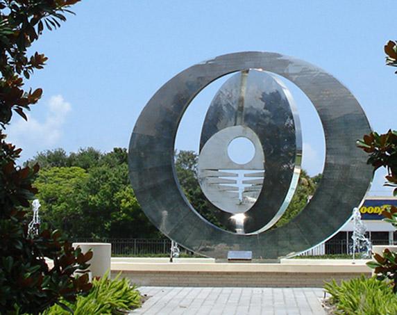 Sculpture on Crum property
