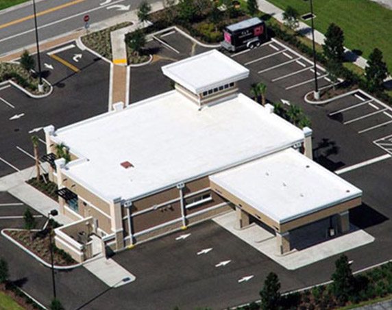 Aerial shot of Fifth Third bank