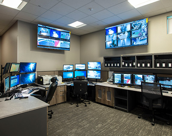Groveland Public Safety Complex control room