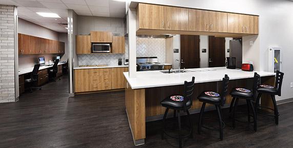 Kitchen area at Groveland Public Safety Complex