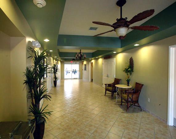 Interior hallway at HARC