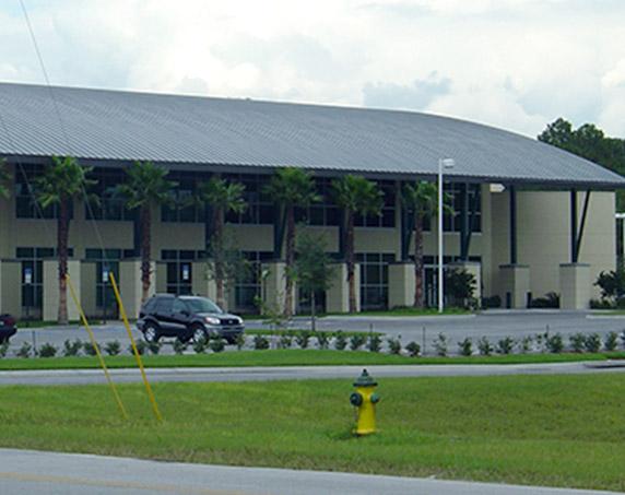 Exterior shot of Hernando Times building