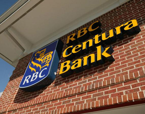 RBC Centura Bank sign