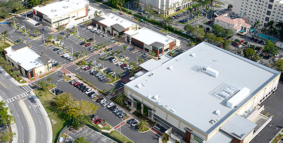 Aerial view of Aventura Shops