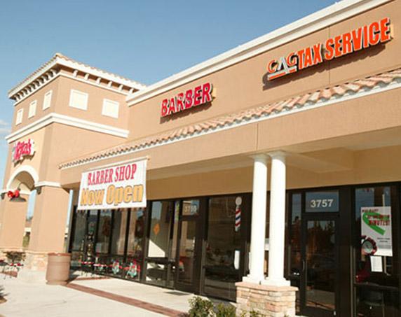Multiple storefronts at Village Shops at Bellalago