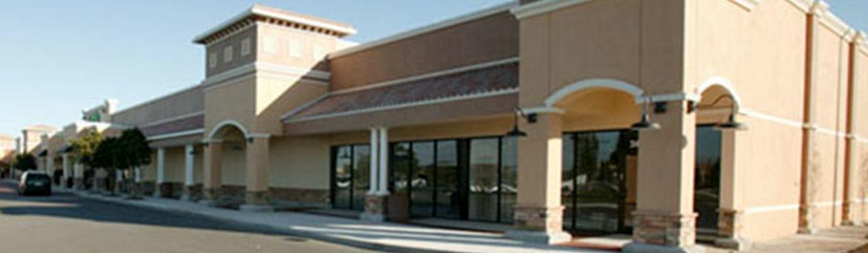 Exterior storefronts at Village Shops at Bellalago