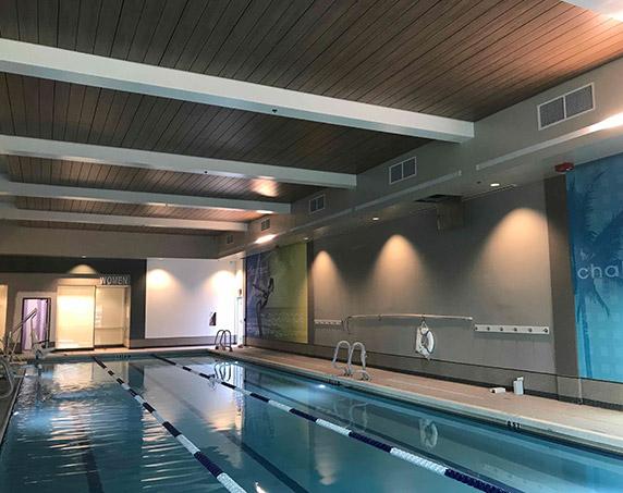Indoor swimming pool at LA Fitness