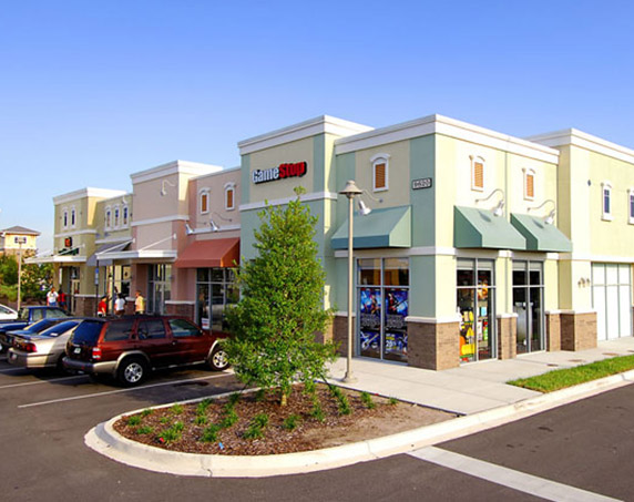 Exterior view of Game Stop building at Oakleaf Town Center