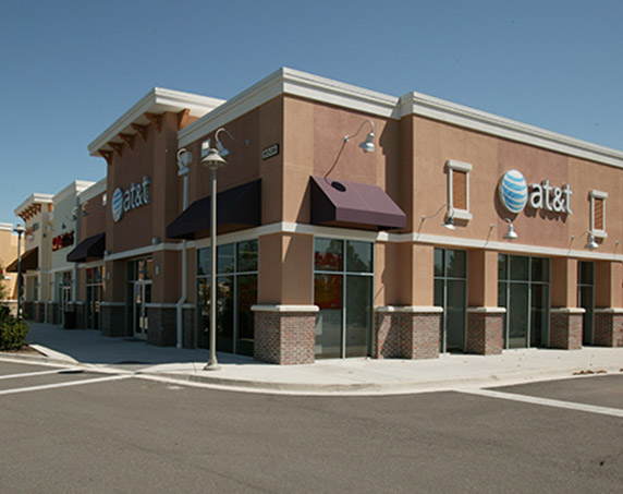 Exterior view of AT&T building at Oakleaf Town Center