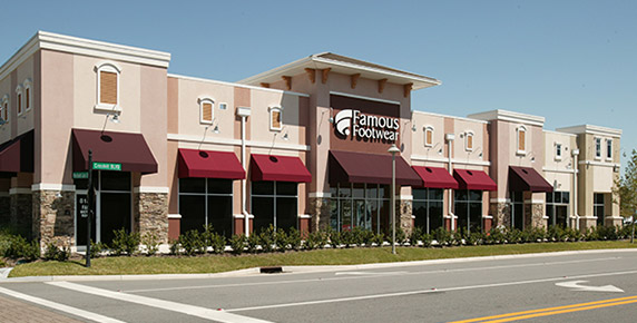 Exterior view of Famous Footwear building at Oakleaf Town Center