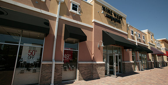 Exterior view of Nine West building at Oakleaf Town Center