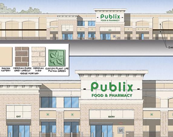 Digital rendering of Publix at Bartram Market
