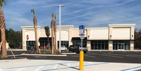 Storefronts at Bartram Market in Jacksonville