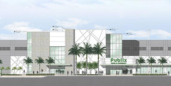 Digital rendering of Publix building