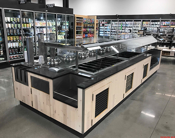 Hot and cold bar area at Publix GreenWise