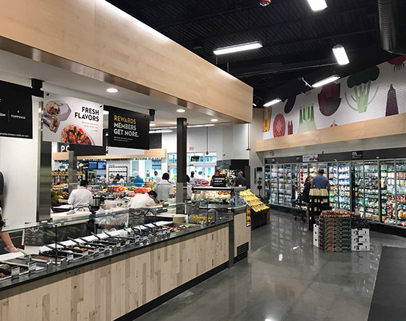 Food bar area at Publix GreenWise in Odessa
