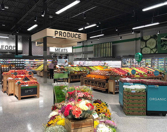 Produce department in Publix at Trailwinds Village