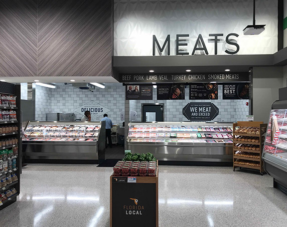 Meat and seafood departments in Publix at Trailwinds Village
