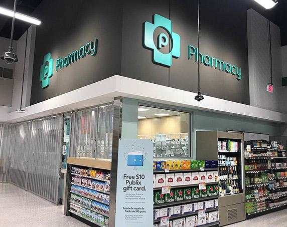 Pharmacy department at Publix Trailwinds Village