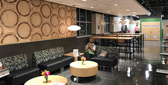 Cafeteria upstairs area at Publix Trailwinds Village
