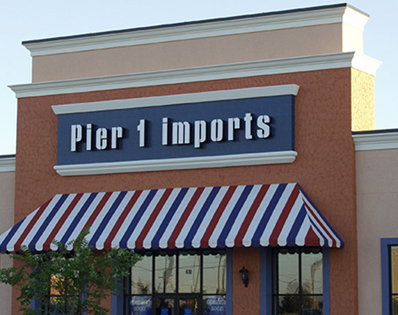 Pier 1 Imports storefront at Rolling Acres Plaza