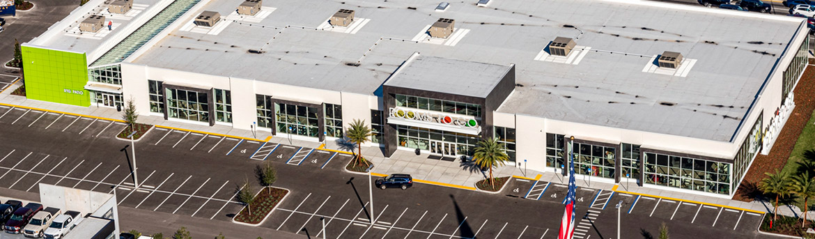 Aerial image of Rooms to Go in Tampa