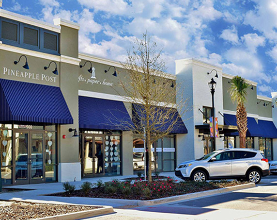 Exterior view of Pineapple Post building at Sawgrass Villages