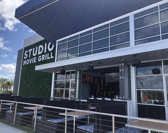 Studio Movie Grill outdoor seating area
